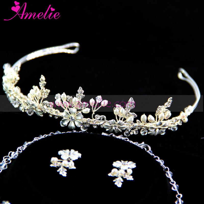 Eternally Timeless Necklace Tiara Set for Wedding Anniversary Women's Jewellery Set