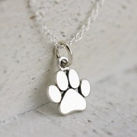Fashion New Design Silver Mini Pendant Necklace, Dog Paw Charm Necklace Collares,Small and Cute Animal Jewelry necklace chain