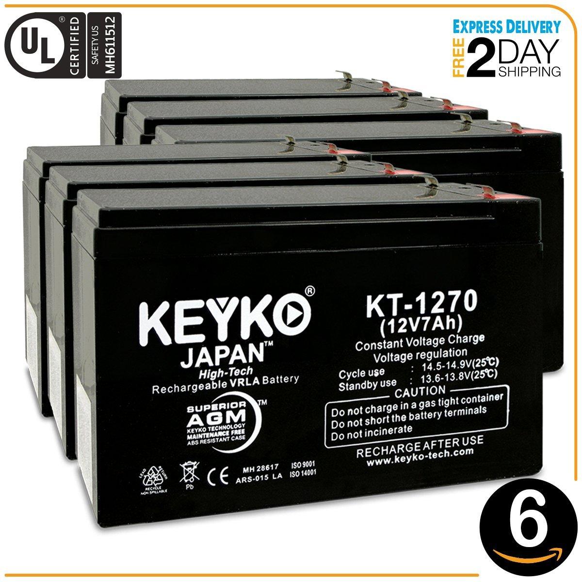 This is an AJC Brand Replacement JohnLite JML-2940 12V 7Ah Spotlight Battery