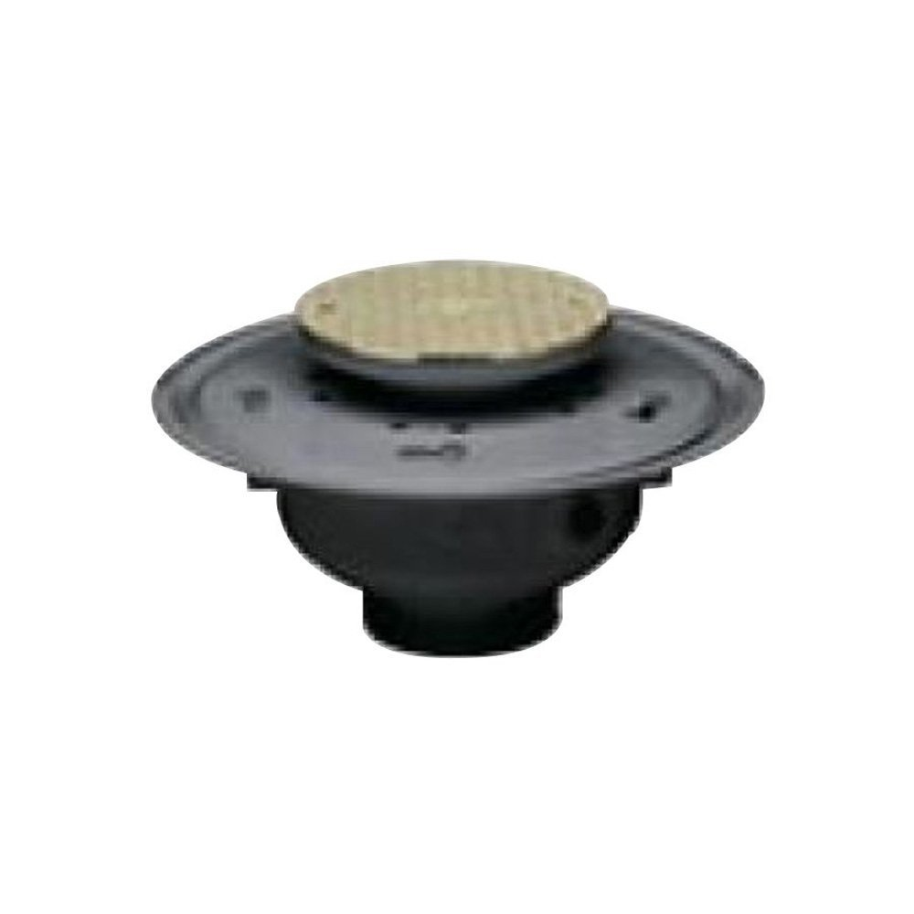 Oatey 74154 PVC Adjustable Commercial Cleanout with 6-Inch NI Cover, 4-Inch