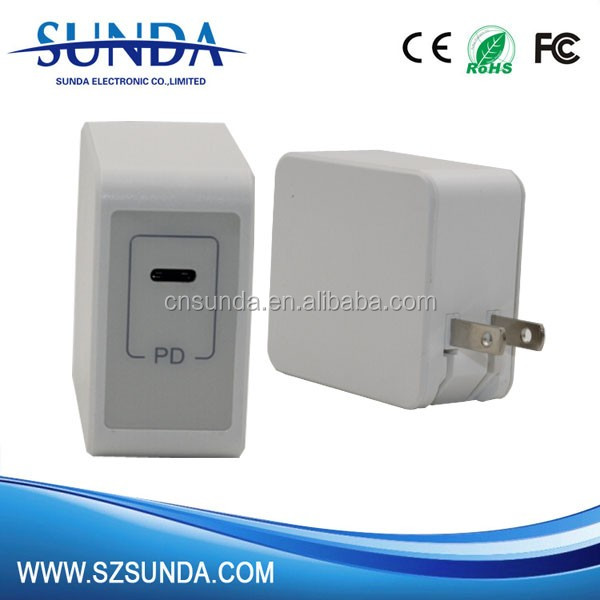 Powerful Type-C port: 5V - 20V 3A,Dual USB Ports 36W PD Smart Travel Charger