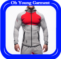 Dri fit knit sports crew neck long sleeve moisture wicking antibacterial latest hoody designs for men 2017