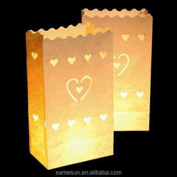 Latest Small Wax Paper Bags For Wedding Decoration