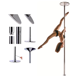 Portable Tube Fitness Dancing Pole Exercise Spinning Chrome Pole Dance 45mm Stripper Strip Pole
