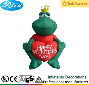 Valentine decoration LED lighting red heart-shaped frog prince inflatable ornament