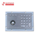 Stainless Steel Keyboards Metal Kiosk Keypad With Trackball Keyboards