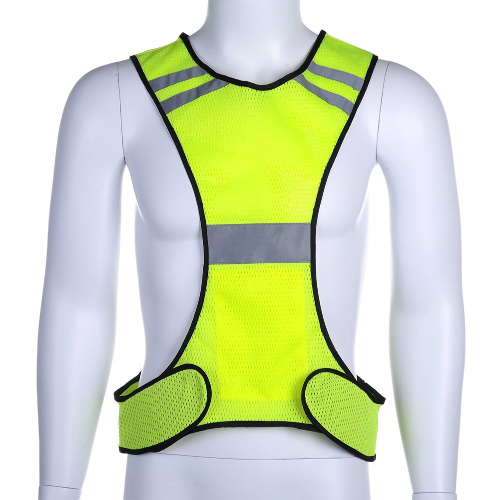 Thin Breathable Night Running Cycyling LED Safety Security Reflective Vest ZV Fitness & Jogging