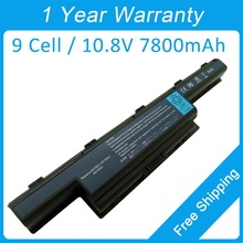 New 9 cell 7800mah laptop battery for Packard Bell EasyNote NM89 NM98 NM88 LM81 LM89 LM85 NM86 LS44HR AS10D51 AS10D61 AS10D71
