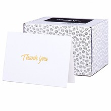 100 Grazie Cards with Gold <span class=keywords><strong>Testo</strong></span> su Carta Bianca Con Buste