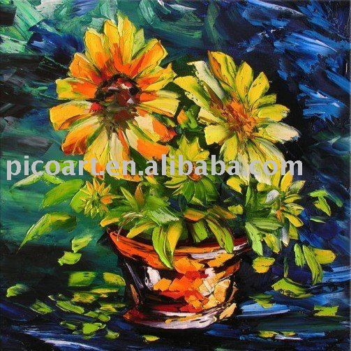 Flower Oil PaintingTechniques Art Painting