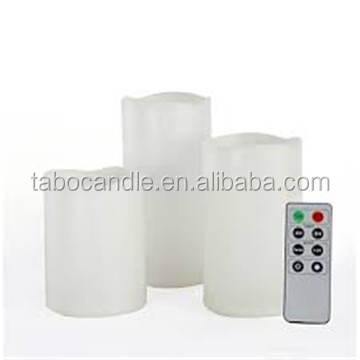 flameless battery led waterproof outdoor plastic resin candle