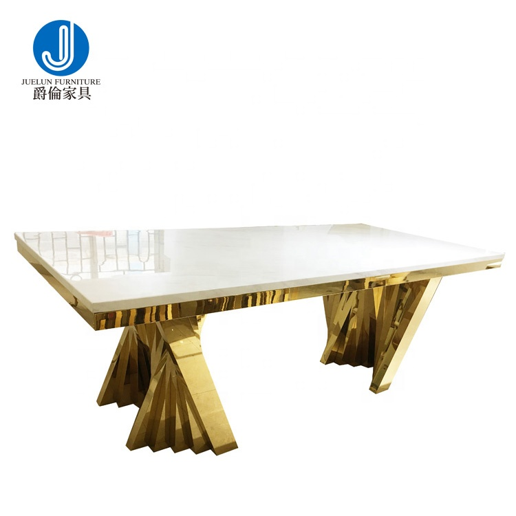 wholesale stainless steel long table dining rectangular table