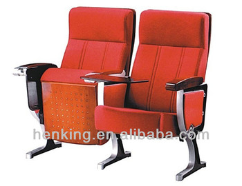 Good Quality Aluminium Church Chairs Wholesale/church Auditorium Chair  Lecture Chair With Desk WH806