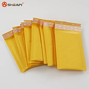ca95afdad04 Get Quotations · (110 150mm) 10pcs lots Bubble Mailers Padded Envelopes  Packaging Shipping Bags Kraft