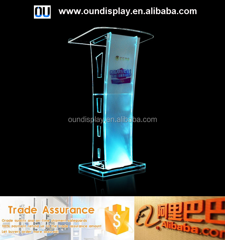 acrylic outdoor furniture high chair and high table with illuminated led light