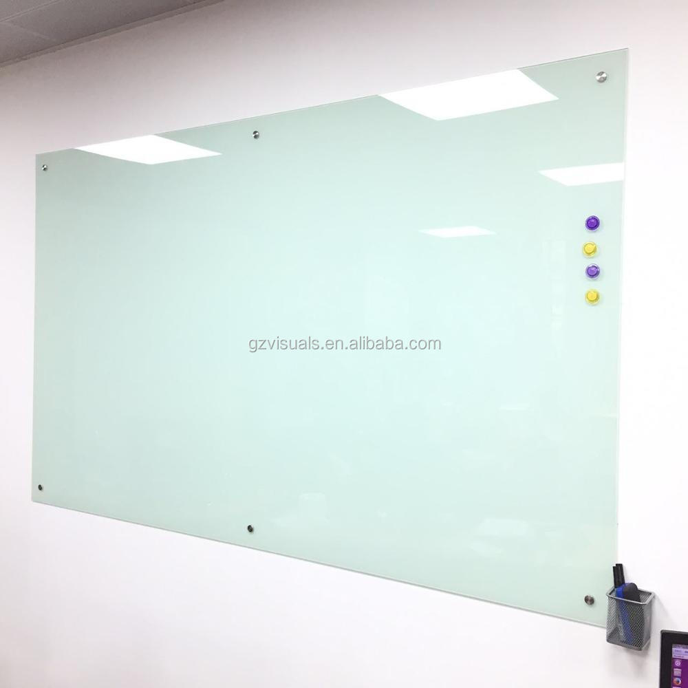 No Frame Memo Clear Glass Panel Whiteboard Writing Dry Erase White