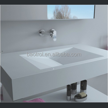 bathroom vanity top sink,acrylic solid surface bathroom Vanity sink