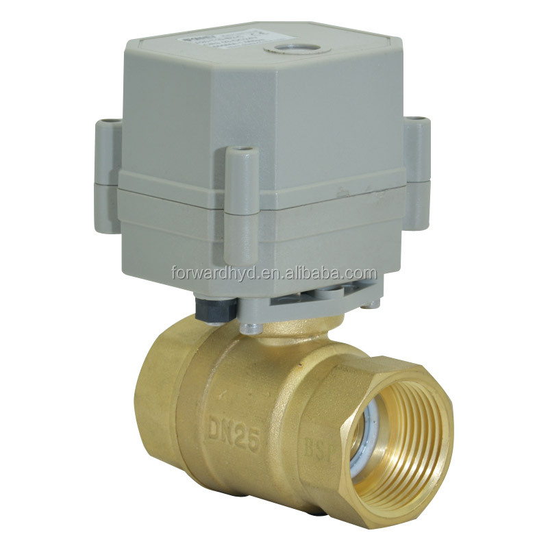 2 Way 1 Inch Electric Flow Control Brass Water Ball <strong>Valve</strong>