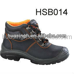 oil and waterproof resistant steel toe insert safety boots for heavy industry