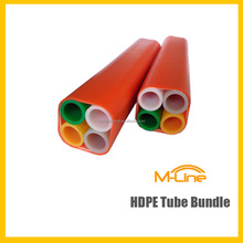 Colorful Air Blown 4 ways 18/14mm HDPE Tube Bundle For Fiber Optic Cable