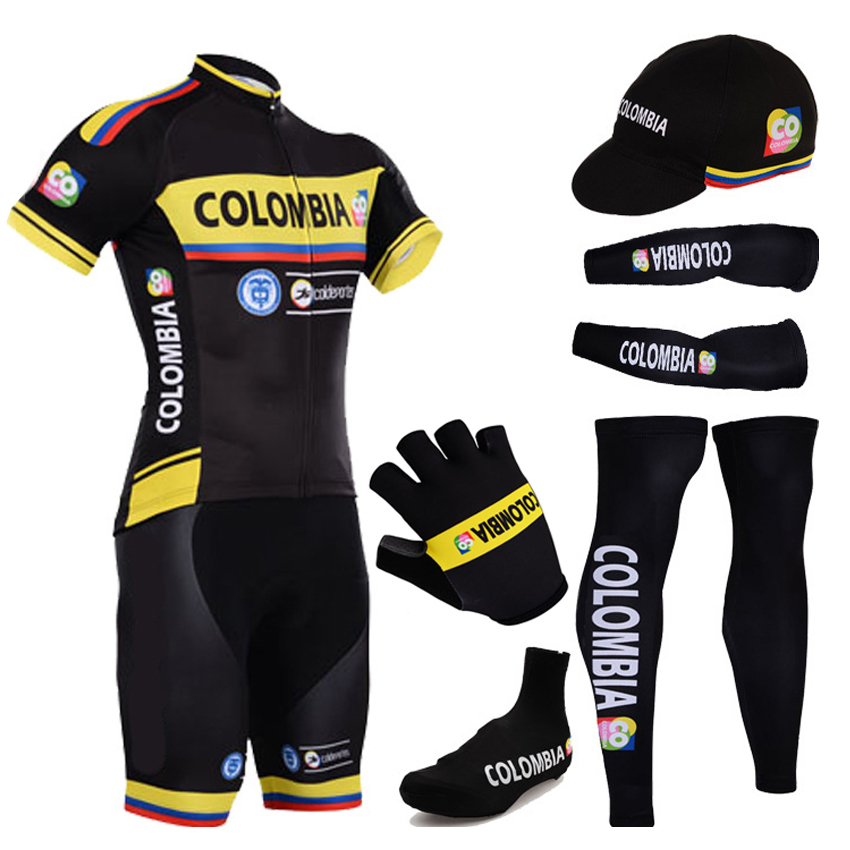 2015 COLOMBIA team men cycling clothing bicycle jersey