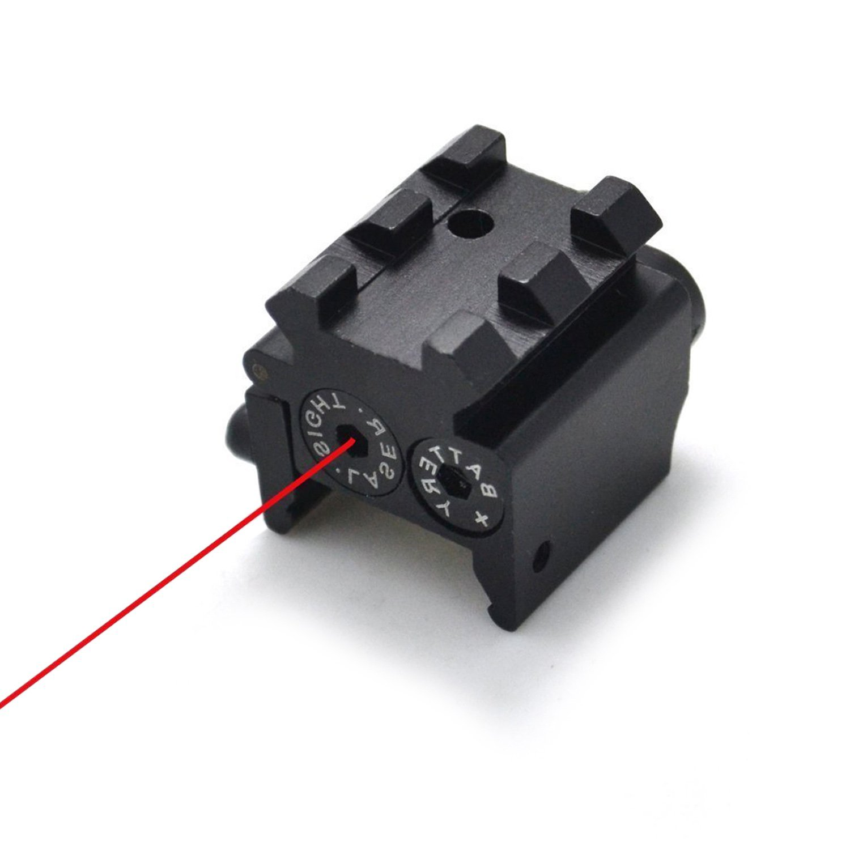 Freehawk®Rifle Laser/Gun Laser/Red Dot Laser/Airsoft Gun Lasers,Tactical Compact Shutterproof Low Profile Rifle Red Laser Beam Dot Sight Scope with Picatinny Weaver Gun Rail/Rail Mount