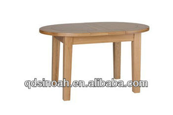 Eikenhout kleine ovale uitschuifbare eettafel eetkamer meubels