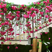 Bougainvillea Vine hanging artificial flowers Decorating the Christmas tree