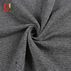 Grey non stretch yarn dyed cotton knit weft striped terry cloth fabric for shirt