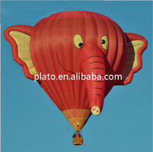 Creative design hydrogen rc hot air balloon /huge elephant 3D manned air balloon for advertising