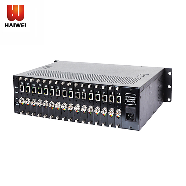 Haiwei H6160 16 Channels h265 encoder rtmp SDI to IP Video Encoder iptv live streaming Broadcast Facebook Youtube