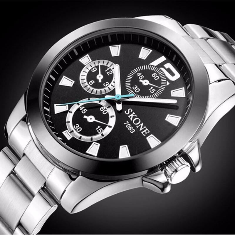 Reloj хомбре сконе аналоговый нержавеющей стали мужские кварцевые наручные часы бизнес часы мужчины люксовый бренд часы relogio masculino
