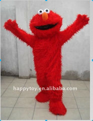 HI hot sales fun adult mascot costume movie character elmo,fancy dress cartoon character mascot costume