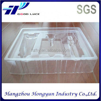 Wholesale clear plastic makeup sets packaging blister tray for olive oil/perfume/face cream