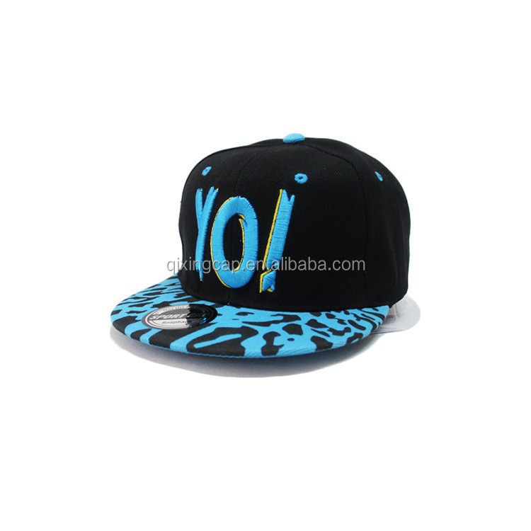 Custom Personalized 6-panel Shot Brim Camp Snapback Hats/Sport caps With logo