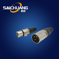 Female / male 3-pin xlr female chassis socket 6 pin connector xlr to 3.5mm jack