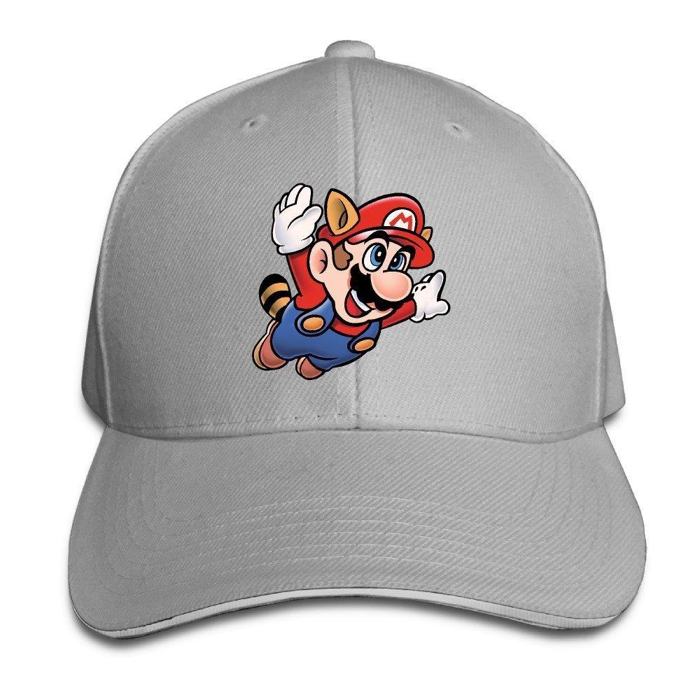 911c531fa50 Get Quotations · Hotgirl4 Adult Flying Super Mario Bros Adjustable Baseball  Cap Black