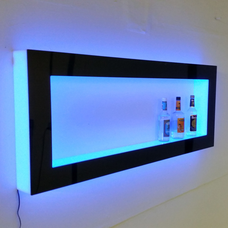 elegant colorful led lighted acrylic floating wall shelf acrylic