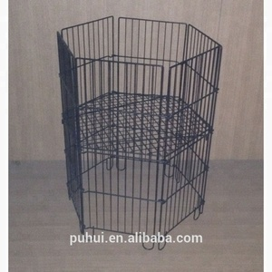 bulk goods factory promotion 6 sides wire dump bin from China