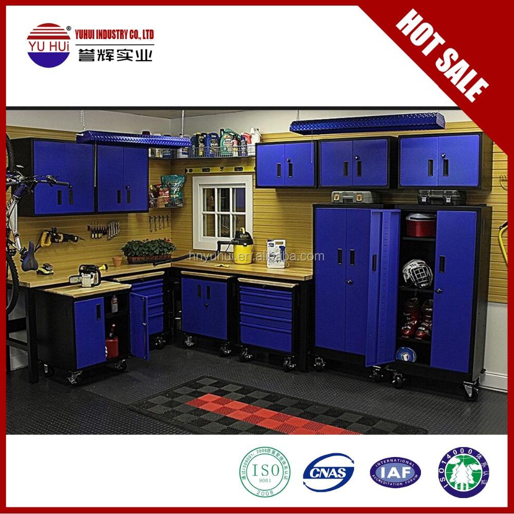Armarios con puertas de garaje de metal de almacenamiento for Muebles para garaje