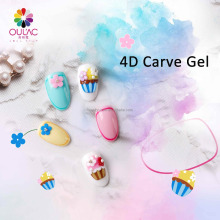 2018 OULAC Top Selling Colorful 4D Carve Gel Nail Aarts Design Led Uv Gel