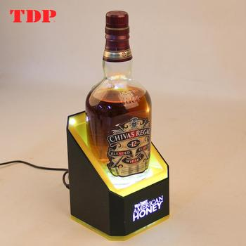 Custom Countertop LED Wine Bottle Display Holer/Acrylic Wine Bottle Glorifier