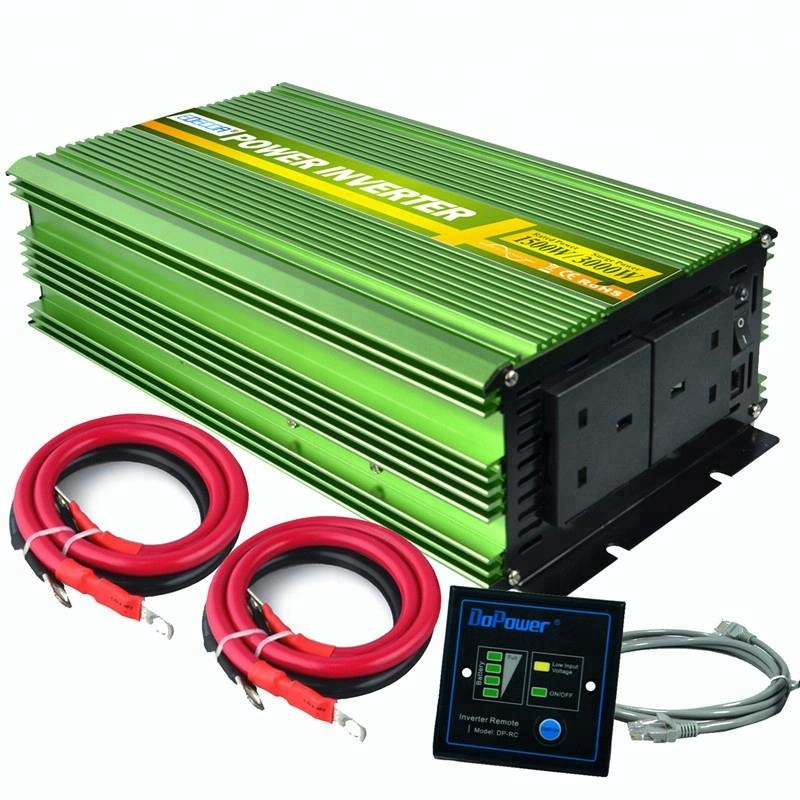 EDECOA Power Inverter 2500W Pure Sine Wave DC 12V to 240V AC with Multifunction Remote Control