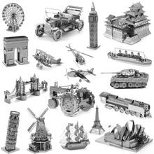 Zero fighter scale models 3D DIY Metal building model for adult font b kids b font