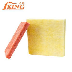 50mm Thickness 48kg/m3 Glass wool insulation board covered aluminum foil