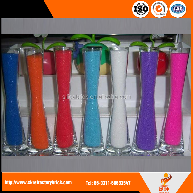 2017 dyed colour sand for vase decoration