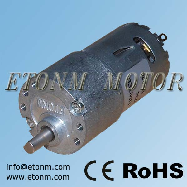 electric car valve dc motor 1000rpm gearbox