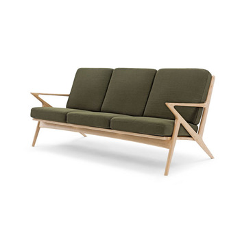 Replica Poul Jensen Solid Wood Fabric Selig Z Sofa Single Seater Chair For Living Room