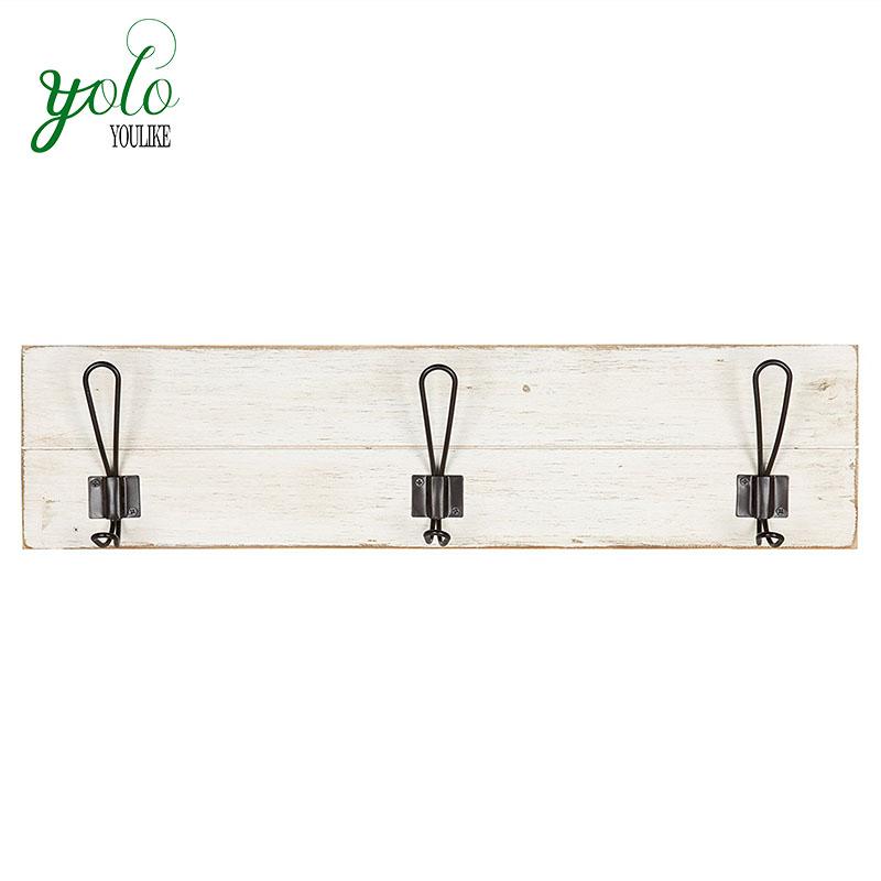 Rustic Wooden Coat Rack Shelf