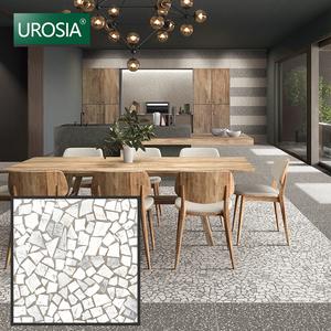 matt antislip indoor / outdoor broken look terrazzo tile 600*600 300x300  foshan terrazzo look porcelain tile